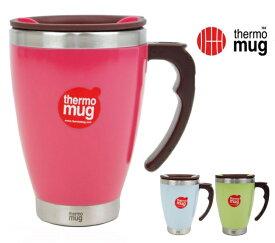 thermo mug/サーモマグ ラウンドマグ 400ml 品番:3284 3色:(ブルー・ローズ・グリーン) コーヒー/お茶/マグ/アウトドア/キャンプ/ホット/アイス/保温/保冷/新生活