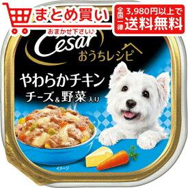 マースジャパンシーザー おうちレシピ やわらかチキン チーズ&野菜入り 100g 犬 フード ウェット アルミトレー