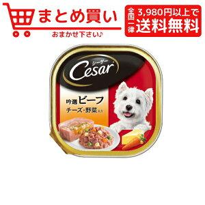 マースジャパンシーザー 吟選ビーフ チーズ 野菜入り 100g 犬 フード ウェット アルミトレー