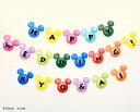 【Disney】ディズニー 結婚式 パーティ 誕生日 お祝い ハロウィン バースデー イベント 装飾品 飾り ガーランド 旗 Mickey ミッキー