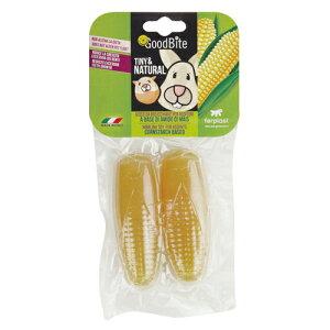 イタリアferplast社製 コーンスターチベースのチューイングトイ グッドバイト 小動物用 コーン(2個入り)