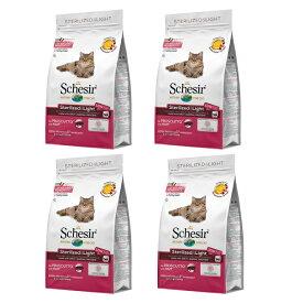 【期限切迫価格】 無添加・無着色 総合栄養食 成猫用キャットフード シシア ドライフード:ステアライズド&ライト ハム 1.6kg(400g×4) Schesir C721