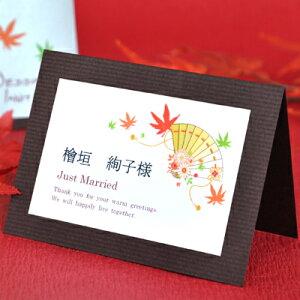 席札 手作りセット 扇華(せんか)(10名分) /結婚式 ペーパーアイテム テンプレート付
