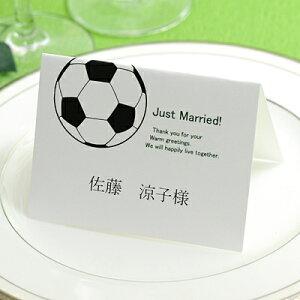 席札 手作りセット サッカー(10名分) /結婚式 ペーパーアイテム テンプレート付
