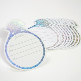 「追加・予備用」リング芳名カード(10枚入)穴なしタイプ(ボックス型カード式芳名帳用)/結婚式芳名帳ゲストブック