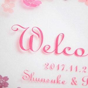 [手作り応援!!]ウェルカムボード手作り用デザイン透明フィルム ピーチブロッサム/結婚式