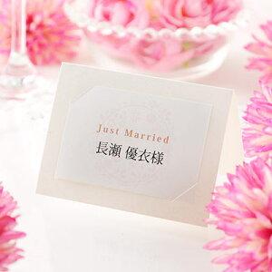 席札 完成品(印刷込) 華毬(はなまり) /結婚式 ペーパーアイテム 名前印刷付