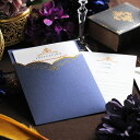 招待状 手作りセット「ディーナ」 / 結婚式 招待状 手作りキット 封筒 返信はがき パーティー