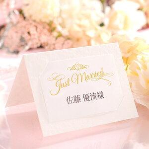 席札 完成品(印刷込) ルチーア /結婚式 ペーパーアイテム 名前印刷付