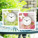 【安心の国産時計】両親贈呈品フラワーメッセージクロックパピヨン/結婚式両親へのプレゼント(花時計)