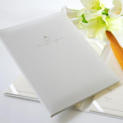 [送料無料]結婚証明書「リング」結婚式 人前式 チャペル式 誓約書