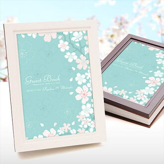 Spring Wedding Guest Book Insert Name Woody Guestbook Kanon Cherry Blossoms Party