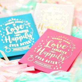 【すぐ届く/あす楽対象】芳名帳「happily ever after(ハピリー・エバー・アフター)」カード・チェキ・シートタイプ /結婚式 ゲストブック
