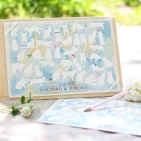 寄せ書きタイプ芳名帳「キャット」/結婚式