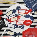 \フォトプロップスとしても使える/席札手作りセット(10名セット)「パーティー」サン/クラシカル/シャード/結婚式