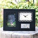 大人カワイイ\両親へのプレゼント/サンクスオルゴール時計 ブラッククロック /結婚式