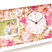 花時計フォトフレーム付き贈呈品3点セット|両親へのプレゼント結婚式