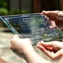 ガラスの結婚証明書「ヴェール」 結婚式 人前式 証明書 家族婚 少人数婚 入籍記念 結婚記念