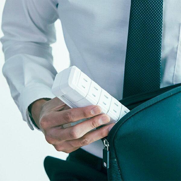 電源タップ おしゃれ インテリア デザイン 回転 ロータリー ホワイト AC6個口 3.4A 急速充電 USB ブレーカー機能搭載スイッチ 延長コード 1.8m