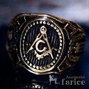 楽天市場 秘密結社 フリーメイソン ステンレス リング 指輪 ゴールド メンズ コンパス 定規 Gマーク 石工 道具 アクセサリーショップfarice