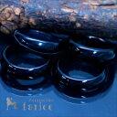 天然石 メノウ アゲート ブラック 黒 シンプル 甲丸 メンズ リング 指輪