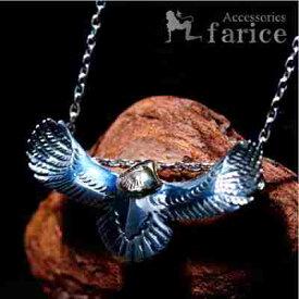 イーグル(鷲)モチーフ ヘッドゴールド仕上げ K14(14金)コーティング 羽ばたく翼(ウイング)デザイン メンズ インディアンジュエリー シルバー925 ペンダント ネックレス