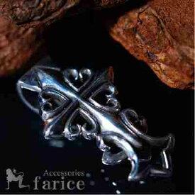 クロスフローリー(百合の花の十字紋章) 立体デザイン メンズ シルバー925 マネークリップ