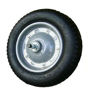 一輪車用 ノーパンクタイヤ シャフト付き