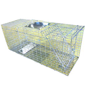 捕獲器Lサイズ 踏板式 箱罠 アニマルトラップ 折り畳み式 イタチ 猫