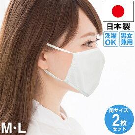 【 在庫あり 1〜2日(日祝除く)に発送致します。】 マスク 日本製 洗えるマスク 2枚セット 白 ウイルス 花粉症 対策 予防 花粉 感染予防 Mサイズ Lサイズ 洗える 個包装 安い 大きめ 個装 立体 女性 男性 男女兼用 大人用 子供用 送料無料