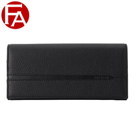 ブルガリ BVLGARI Man wallet pochette w/chain Octo メンズ 二つ折り長財布 ブラック カジュアルグレインカーフレザー 36970