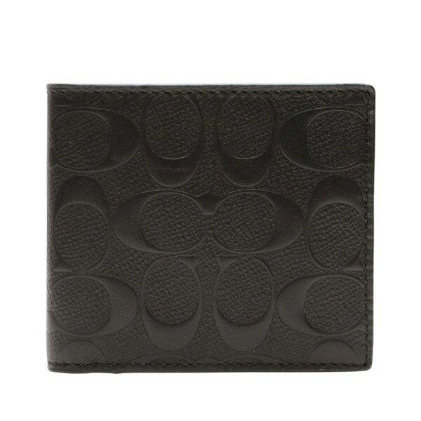 コーチ COACH 折り財布 f75363blk | 二つ折り 小銭入れ さいふ サイフ ウォレット 財布 カード 収納 多い メンズ かっこいい おしゃれ オシャレ シンプル コンパクト スリム 使いやすい ブランド レザー 本革 プレゼント アウトレット