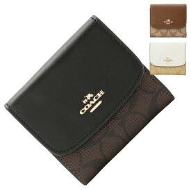 コーチ COACH 三つ折り財布 f87589 | ファスナー 小銭入れ さいふ サイフ ウォレット 財布 カード入れ 多い レディース かわいい 可愛い おしゃれ オシャレ 小さい 小さめ コンパクト 薄い ブランド 本革 アウトレット