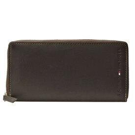 トミーヒルフィガー 財布 ブランド財布 TOMMY HILFIGER 財布 ブランド財布 メンズ ラウンドファスナー長財布 ブラウン レザー 31tl13x015-200 ビジネス プレゼント ギフト