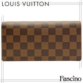 ルイヴィトン 財布 LOUIS VUITTON ショップ袋付き LV 二つ折り財布 「ポルトフォイユ・ブラザ」 ダミエ ダミエキャンバス n60017 メンズ ルイ ヴィトン ルイビトン