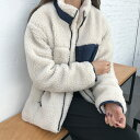 レディース ボア ブルゾン ジャケット 秋冬 アウターコート もこもこ 防寒コート 冬 ゆったり アウトドア 暖かい フリース 胸ポケット あったか