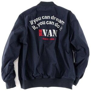 MR.VANミスターヴァン2019年新作バックアーチロゴ刺繍MA-1ミリタリージャケットアウタージャンパーブルゾンメンズトップスカジュアル