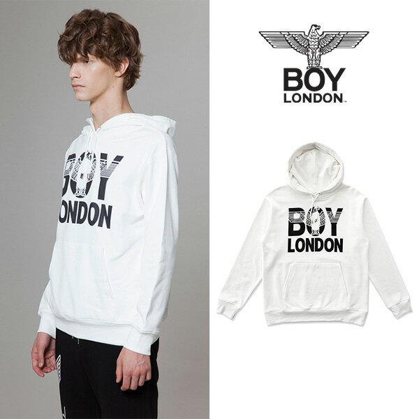 【BOY LONDON 日本公式販売店】BOYLONDON Eagle Printed Hoodie - WHITE BG3HD032AWH メンズ カジュアル 男性 メンズファッション
