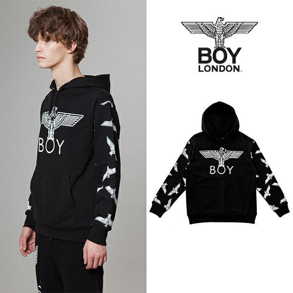 【BOY LONDON 日本公式販売店】Eagle Patterned on Sleeves Hoodie - BLACK BG3HD035ABK メンズ カジュアル 男性 メンズファッション 送料無料