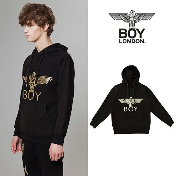 【BOY LONDON 日本公式販売店】BOY Eagle Brushed Hoodie - BLACK-GOLD BG4HD037 メンズ カジュアル 男性 メンズファッション 送料無料