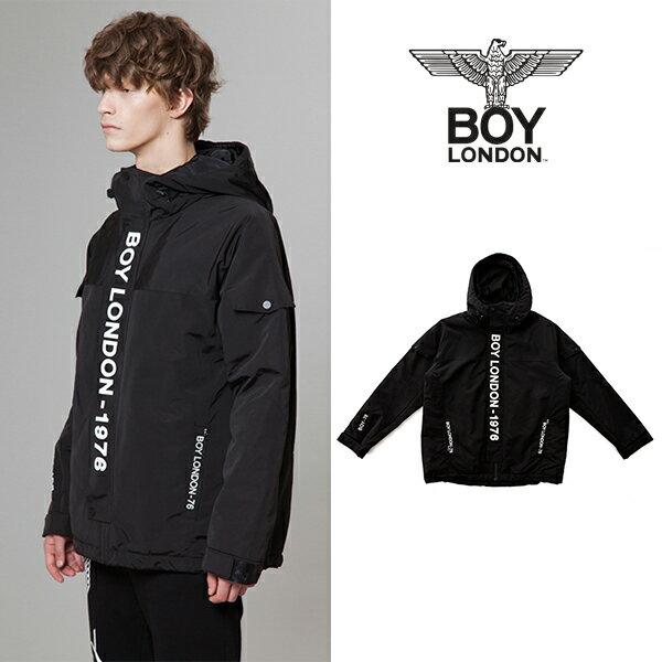 【BOY LONDON 日本公式販売店】BOYLONDON Mid-length Hooded Jacket -BLACK BG4JP048 メンズ カジュアル 男性 メンズファッション
