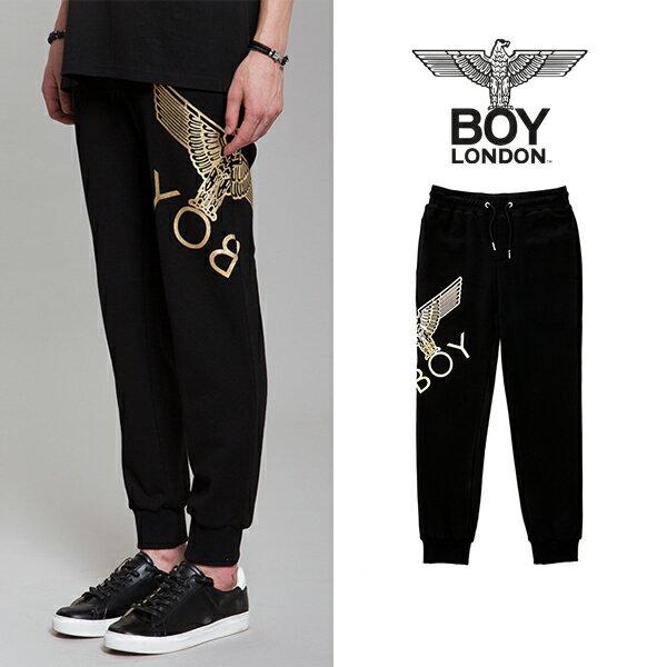 【BOY LONDON 日本公式販売店】Eagle Artwork Cross Printed Jogger-BLACK-GOLD BG3PL042ABG メンズ カジュアル 男性 メンズファッション 送料無料