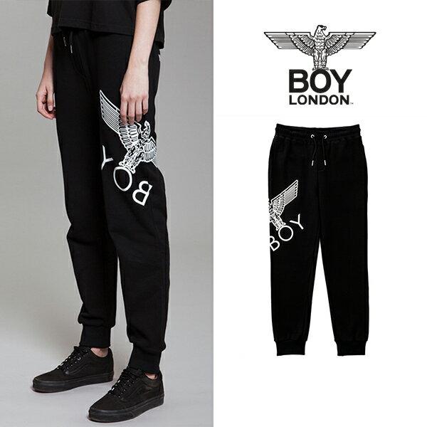 【BOY LONDON 日本公式販売店】Eagle Artwork Cross Printed Jogger-BLACK-WHITE BG3PL042ABW メンズ カジュアル 男性 メンズファッション 送料無料