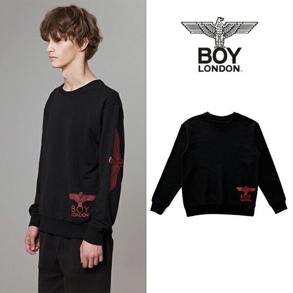 【BOY LONDON 日本公式販売店】Eagle Printed on Right Front Sweatshirt -BLACK BG3TL013 メンズ カジュアル 男性 メンズファッション 送料無料