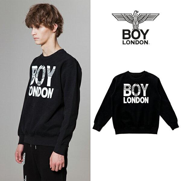 【BOY LONDON 日本公式販売店】BOYLONDON Eagle Printed Sweatshirt-BLACK BG3TL015 メンズ カジュアル 男性 メンズファッション