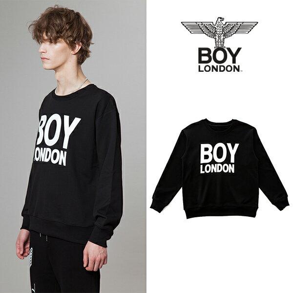 【BOY LONDON 日本公式販売店】BOYLONDON Logo Printed Sweatshirt-BLACK BG3TL017ABK メンズ カジュアル 男性 メンズファッション