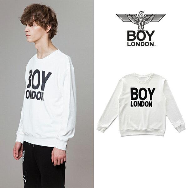 【BOY LONDON 日本公式販売店】BOYLONDON Logo Printed Sweatshirt-WHITE BG3TL017AWH メンズ カジュアル 男性 メンズファッション