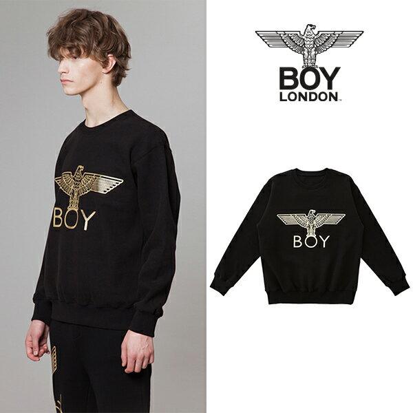 【BOY LONDON 日本公式販売店】Silver Eagle BOY Brushed Sweatshirt-BLACK-GOLD BG4TL020BBG メンズ カジュアル 男性 メンズファッション 送料無料