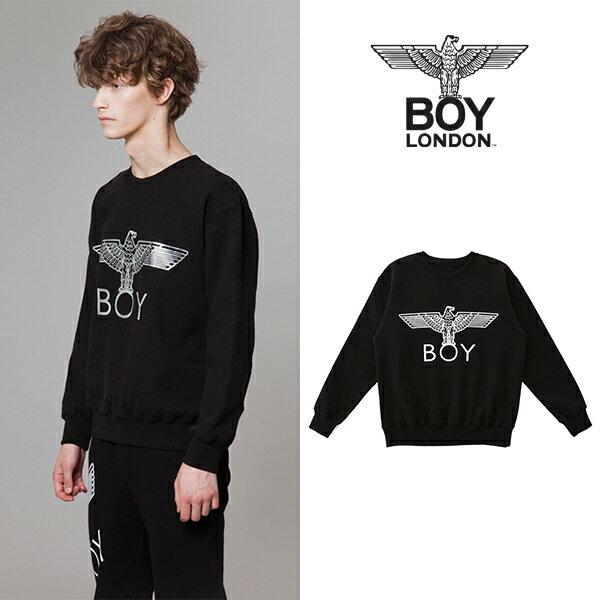 【BOY LONDON 日本公式販売店】Gold Eagle BOY Brushed Sweatshirt-BLACK-SILVER BG4TL020BBS メンズ カジュアル 男性 メンズファッション 送料無料