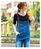Great all-in-one denim Womens overalls size all-in-one fall/winter overalls overalls denim wide pants wide denim women's M/L/LL/3 L / 4 L